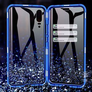 Новый магнитный поглощение металлический корпус для Huawei P20 P20PRO P20LITE телефон задняя крышка двухстороннего стекла Huaweip20 Pro Lite Bag H SQCIYM