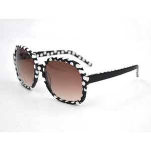 Women Fashion Sunglasses Female Gradient Lens Shade Sun Eyeglasses Acetate Oversize white dots Point Print Frame L3