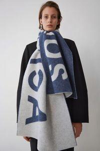 Fashion-Studio hang tag shawl with designer scarves for fashionable, hig elegant women's wear luxury scarf acne letter long warm scarfs