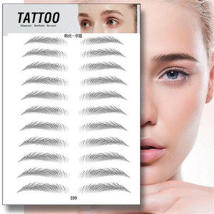 MP041 Semi-Permanent Water Transfer Eyebrows Makeup Waterproof Eyebrow Tattoo Sticker Long Lasting Natural Fake Eyebrow Lamination Cosmetics