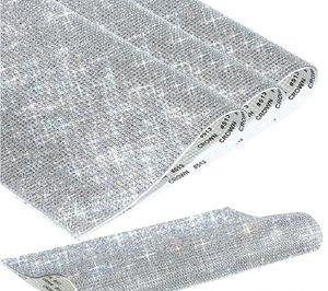 Autoadesivo Strass Sticker Strato Strato Crystal Ribbon con Gum Diamond Decorazione fai da te Cars Castelli Telefono Casi Coppe Accessori 20 * 24 cm EWF2509