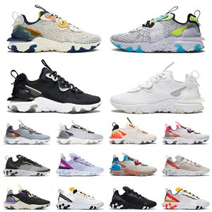 epic react vision react element 55 87 undercover 2021 Top Vision React White Iridescent Black Element 55 UNDERCOVER Running Sport Shoes For Mens Women Schematic Trainers Sneakers