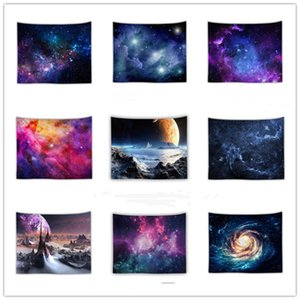 Incroyable Night Star Tapisserie Tapisserie 3D Mur imprimé Image Picture Bohemian Plage Serviette Table Couvertures Toile Toile Chaud Stare Stare Couverture cosmique Starry WY958