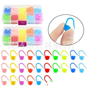 Handmade DIY Clasp Plastic Boxpacked Pins Sweater Weave Security Tool Mark Buckle Mini Colourful Materials Home Student Womens 3 5yl M2