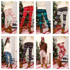 Plus Size Christmas Leggings Pant Árvore de Natal Floco de Neve Floco de Neve Calças Skinny Tights Legging Mulheres Bootcut Calças Calças S-5XL E111105