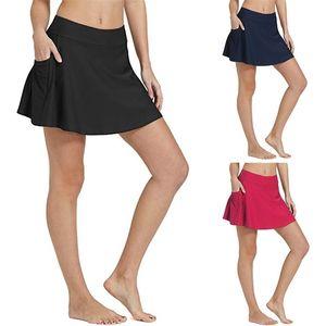 비키니 바닥 Tankini 수영 스커트 포켓 짧은 해변 바지 고품질 수영복 여성 패션 비치웨어
