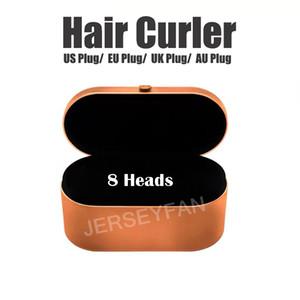 Top-Qualität Lockenwickler Berufssalon- Werkzeuge EU / US / UK / AU Version 8Heads Curling Eisen für normales Haar mit Geschenk-Box
