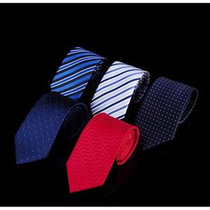 Para hombre rayada SHIERXI marca de moda corbata Lazo del asunto boda corbata de punto Jacquard corbata de los hombres de poliéster corbatas