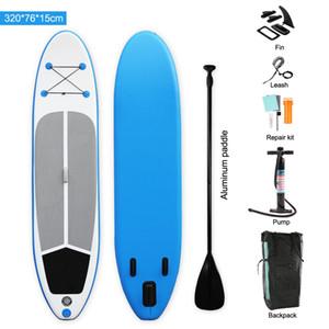 Venda inteira 320x76x15cm Super Estável Paddle Board Board Pop Up Stand Up Stand Up Paddle Board Yoga Kayak para Flutuar e Esportes Aquáticos