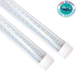 슈퍼 밝은 T8 LED 튜브 라이트 램프 AC85-265V 18W 28W 36W 45W 50W 56W 72W 100W 형광체 교체 조명 2ft 3ft 4ft 높은 전원