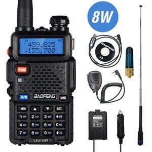 Real 8W Baofeng UV-5R Walkie Talkie UV 5R Dual Band Walkie FM Transceiver UV5R Amateur Ham CB Radio Station Hunting Transmitter 201112