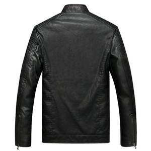 Giacche di cuoio della finzione Comlion Uomo Uomo di alta qualità Classic Moto Moto Bike Cowboy Giacca Cappotto Maschile Plus Velvet Cappotti spessi M-5XL C46 201120
