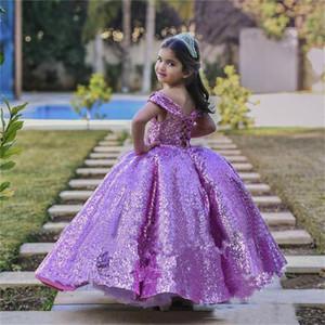 Flower Girl Dresses Long Tail Girls Pageant Dresses Beaded Little Girl Dress Evening Dresses Model Walking Show Girl In Stocks
