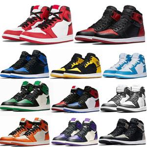 Jumpman 1 OG basketbal shoes Running shoes اضة حذاء الجري للرجال الرياضة الشعلة هير لعبة الملكي الصنوبر الخضراء المحكمة يورو 36-46