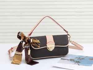 Wholesale frete grátis Novas senhoras bolsa de couro bolsa de ombro luxo designer senhoras bolsa de ombro mensageiro bolsa com lenço de seda