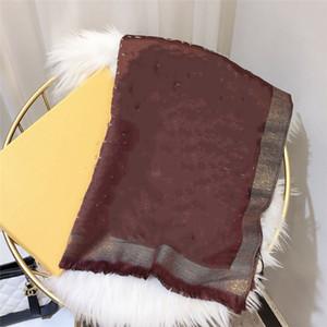 Hohe Qualität Baumwollschal Mode Glänzende Goldfaden Baumwollgarn-gefärbter Schal Langer Schal 180x70cm kommt mit Etikett