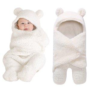 Nouvelle couverture du nouveau-né bébé Swaddle Wrap doux d'hiver Literie de bébé Receiving Blanket Manta de couchage pour bébé Couverture Wrap Photographie Y201001
