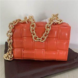 Nuovo arrivo designer borse di marca e borse in vera pelle famosa catena signore Pouch Bag Con Big metallo Messenger Bag mano per le donne
