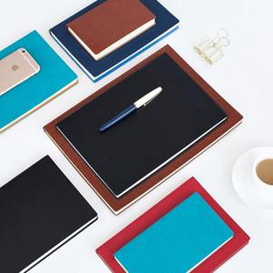 İş Katı Renk El Yapımı Ciltli PU Deri Sketchbook Dergisi A5 Dizüstü Günlüğü Kitap Haftalık Planlayıcısı Zamanlama Kitabı 0160171