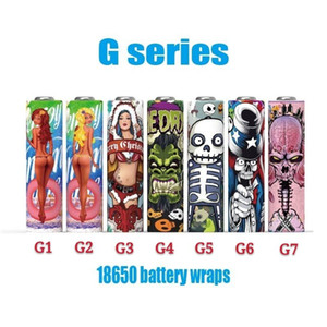 2020 Newest Arrival 18650 G Series Battery Wraps Skin PVC Stickers 7 types Heat Cover Sleeve For Batteries