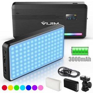 Eastvita Vijim VL196 RGB LED Lampe vidéo LED 2500K 9000K DIMMABLE FLUMABLE Smartphone Smartphone Smartphone Vlog Photographie Lighting Kit1