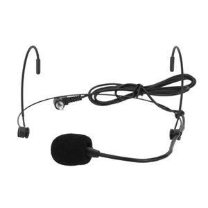 Uni-Yönlü Ses Amp Hoparlör için Headworn Kulaklık Kulak-kanca Mikrofon Mikrofon Esnek Kablolu Boom Başkanı monteli