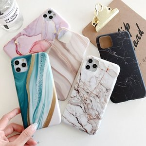 Marble Pattern Shockproof IMD Phone Case For iPhone 12 11 Pro MAX XR X XS Max 7 8Plus Soft Phone Back Cover