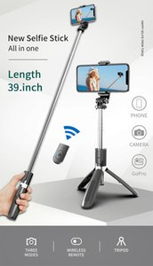 4 In1 L02 Wireless Bluetooth Selfie Stick Tripod Foldable & Monopods Universal for Smartphones for Sports Action Cameras For Smart Phone