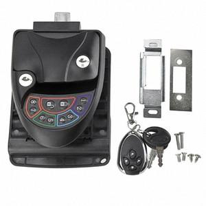 Keypad Anti Theft Caravan Keyless Entry Metal Camping RV Door Lock Remote Control Latch Handle Knob Motorhome Trailer Password TQF5#
