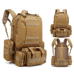 Outdoor Tactical Backpack 55L Large Capacity Molle Army Assault Bags Camouflage Trekking Hunting Camping Hiking Bag