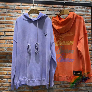 Heavy Fabric High Quality Pullover Men Women 1 letters foaming printing Sweatshirts Hoodie