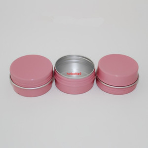 10ml 30ml 50ml 60ml Empty Pink Aluminum Jar Case Cosmetic Eyebrow Eyeliner Cream Gel Mascara Container Storage Soap Tins 100pcspls order