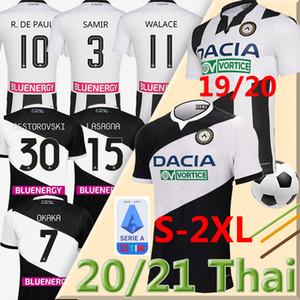 20 21 MAGLIA اودينيزي لكرة القدم جيرسي 2020 2021 المنزل عدة أبيض أسود قميص PAUL JANKTO 2019 TER AVEST بيزيلا بيهرامي لكرة القدم