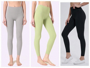Leggings Leggings Yoga Pantalones Diseñadores Para Mujer Gym Wear Lu Icon 32 68 Solid Color Sports Elastic Fitness Lady Global Alinee Mights Short 2 M69Z #