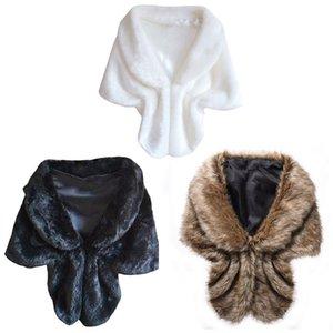Faux Fur Fur Cloak Vest Fashion Winter Warm Bridal Wraps Shawl Evening Party Wedding Cape Faux Wrap Coat fz2652