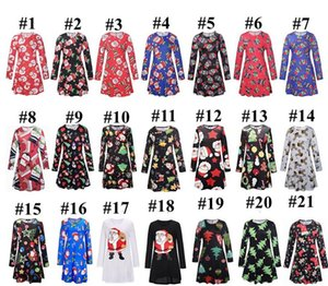 Christmas Family Matching Clothes Sets Mother Daughter Matching Dresses Santa Claus Skirt Xmas Printed Parent-child Dress Outfits E101901