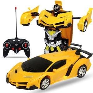 RC 자동차 차량 모델 로봇 완구 운전 스포츠 자동차 로봇 모델 원격 제어 자동차 RC는 어린이 장난감 생일 선물 파이팅 Y200317