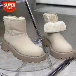 35-40 Снежные сапоги женские зимние теплые туфли Новый плюс бархат толщиной нижней короткой трубки дикий повседневный хлопок ботас Алтас Мухеер # FZ1L