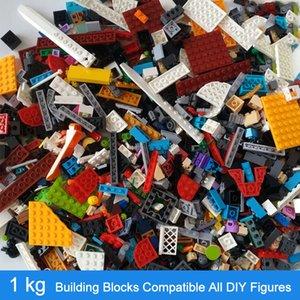 1KG Random DIY Building Blocks Sets City Creative Bricks Compatible All Brands Classic Educational Assemble Toys for Children 201015