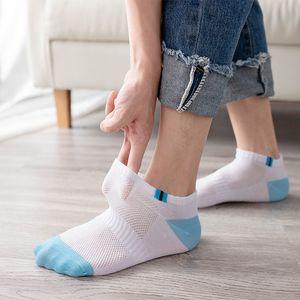 2pcs=1pair Breathable Men's Short Ankle Men Solid Mesh High Quality Male Boat Socks Sale 2021 Hot