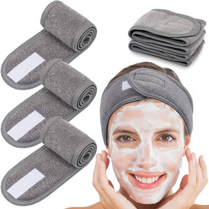 Towel Headband Sweat Hairband Head Wrap Non-slip Stretchable Washable Head Bands Hair Band for Sports Face Wash Makeup Hair Accessories