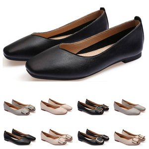ladies flat shoe lager size 33-43 womens girl leather Nude black grey New arrivel Working wedding Party Dress shoes thirty