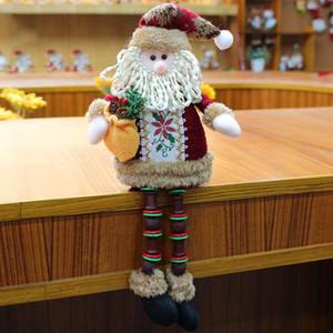 زينة عيد الميلاد الدمى عيد الميلاد شجرة عيد الميلاد حلية جميلة الأيائل سانتا ثلج أفخم لعبة الديكور هدية عيد للأطفال DBC VT1064