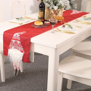 Bandeira Table Linens tabela do Natal Runner escandinavo do gnomo de Santa Tabela decorativa para o Natal Decoração Family Dinner Holiday Party JK2010XB