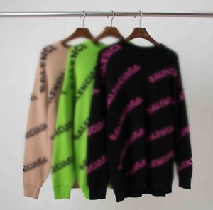 Hoodiejacke Damenmode runde Hals Baumwolle mit Kapuze Balenciaga inneren Fleece-Winterfrauen Jumper Sweatshirt Pullover