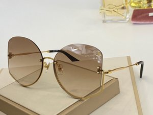 039 New Fashion Designer Sunglasses Frameless Glasses Trend Personality Irregular Frame Eyewear Summer Style VU400 Protection With Case