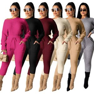 womens tracksuits long sleeve outfits 2 piece set sportsuit pullover + legging tops + pant womens clothing jogger sport suit klw5272