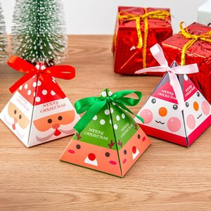 50pcs Christmas Gift Box Candy Case Packing Box Prop Decor Present Container Paper Gift Packing Box For Christmas Present Party sqcwSC