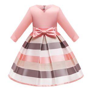 Shoulderless Half Sleeve Gown Satin Elegent Lace Flower Girls Princess Formal Wedding Pageant Dresses 0203