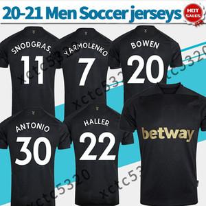 20 21 المطرقة لكرة القدم بالقميص الثالث أسود HALLER YARMOLENKO BOWEN 2021 الغربية قميص كرة القدم الزي الرسمي ANTONIO LANZINI مخصص للرجال لكرة القدم